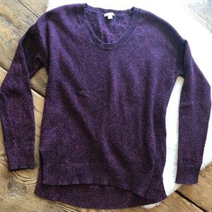 GAP Navy Blue and Pink Knit Sweater